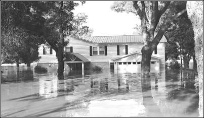 Image of flooded house